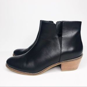 Cole Haan Black Leather Abbot Ankle Booties